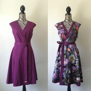 Ted Baker reversible wrap dress